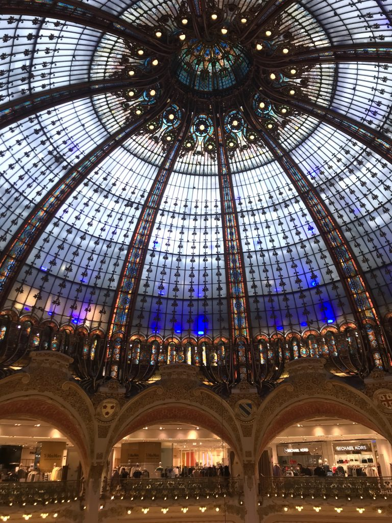 Galeries Lafayette domed stained glass ceiling Haussmann