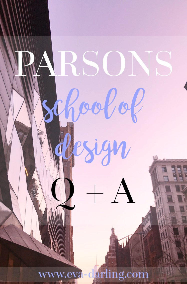 parsons school of design the new school tns nyc new york city manhattan sunset sunrise one world trade center freedom tower fit fashion institute of technlogy csm central saint martins q and a first year freshman year college university risd rhode island school of design scad savannah college of art and design