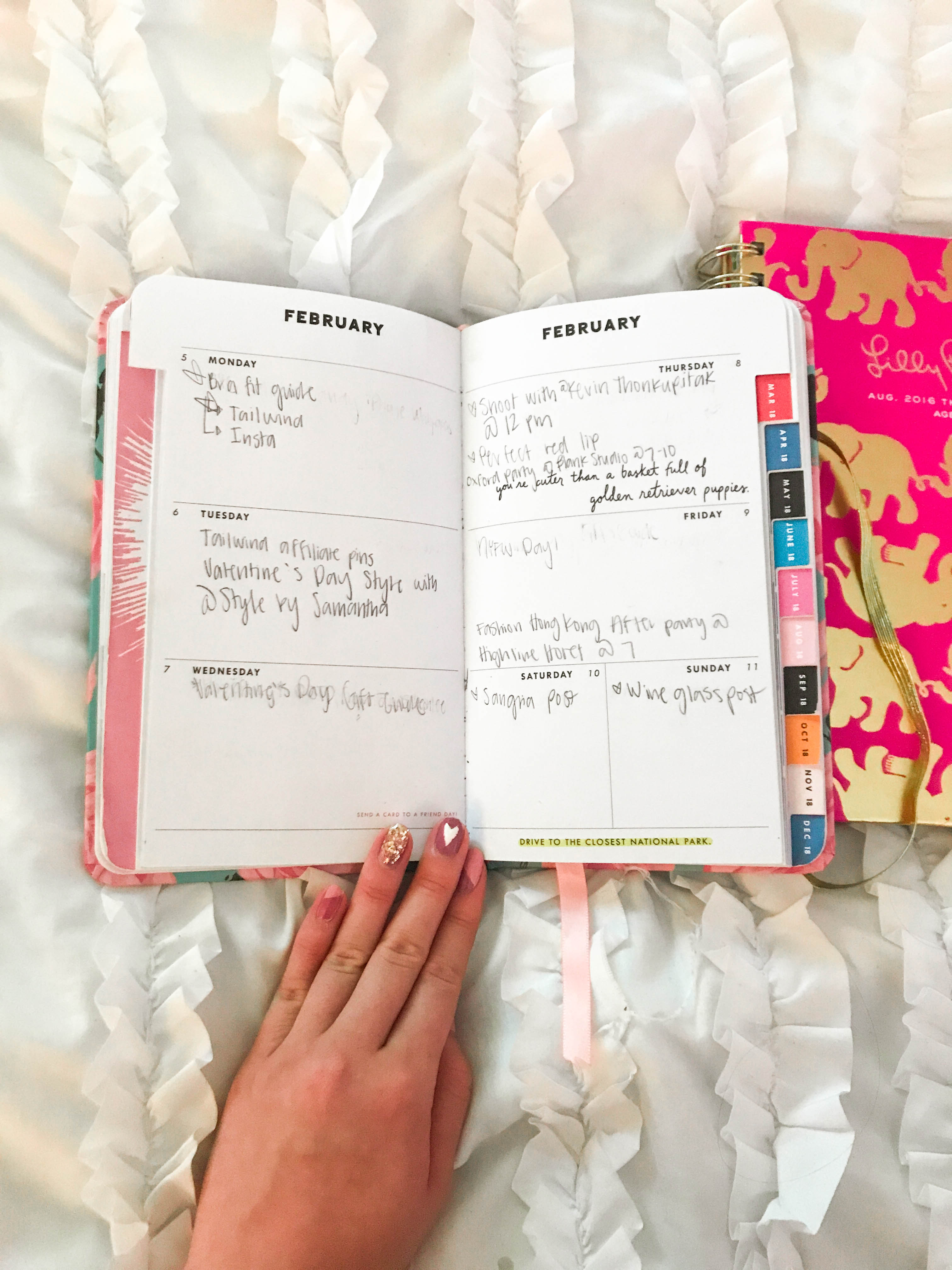 shop ban.do bando planner agenda weekly spread organization stationary lilly pulitzer on white ruffle duvet