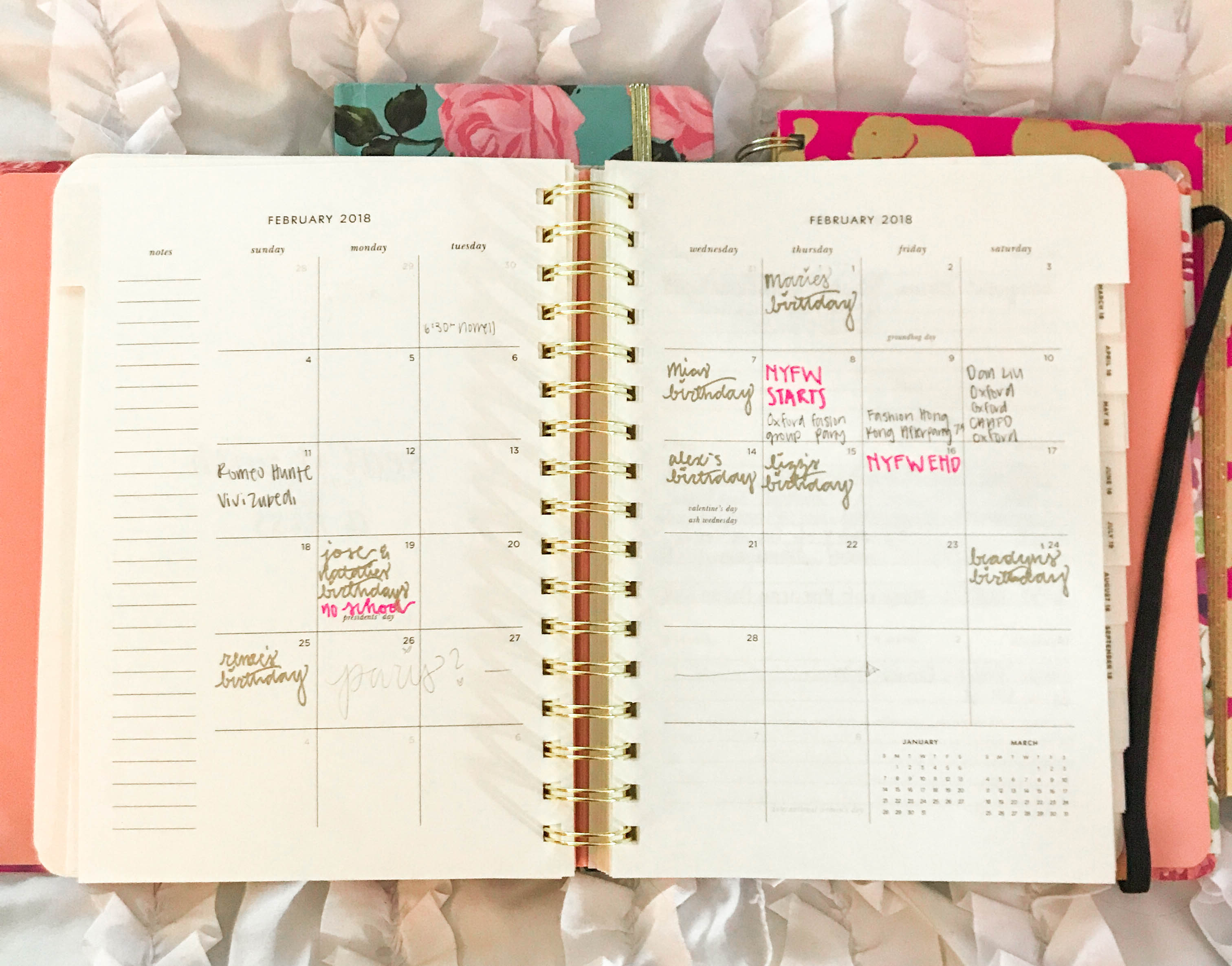 kate spade academic agenda planner comparison to lilly pulitzer shop ban.do monthly spread month overview calendar organization stationary