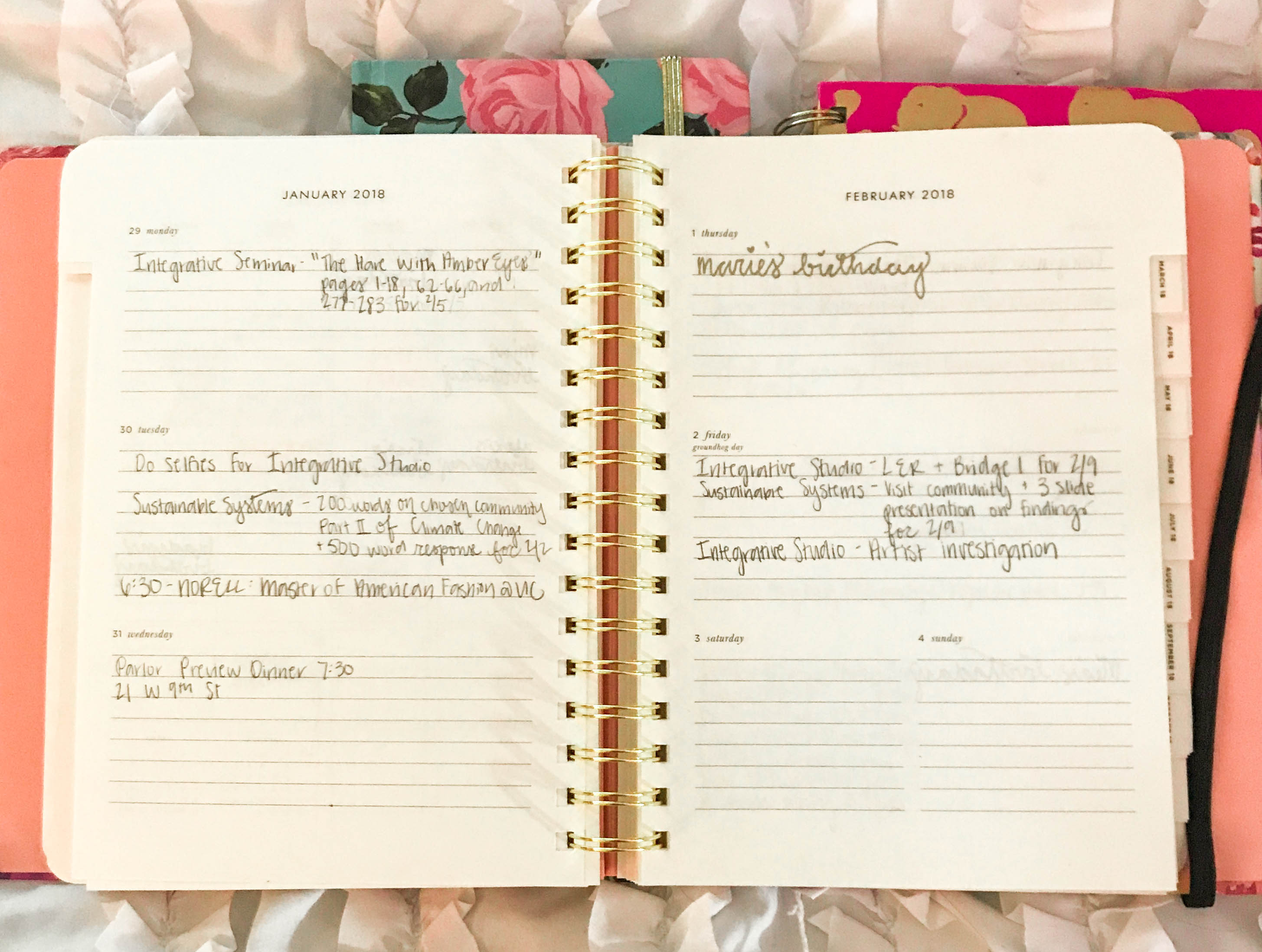 kate spade academic agenda planner comparison to lilly pulitzer shop ban.do monthly spread month overview calendar organization stationary weekly spread