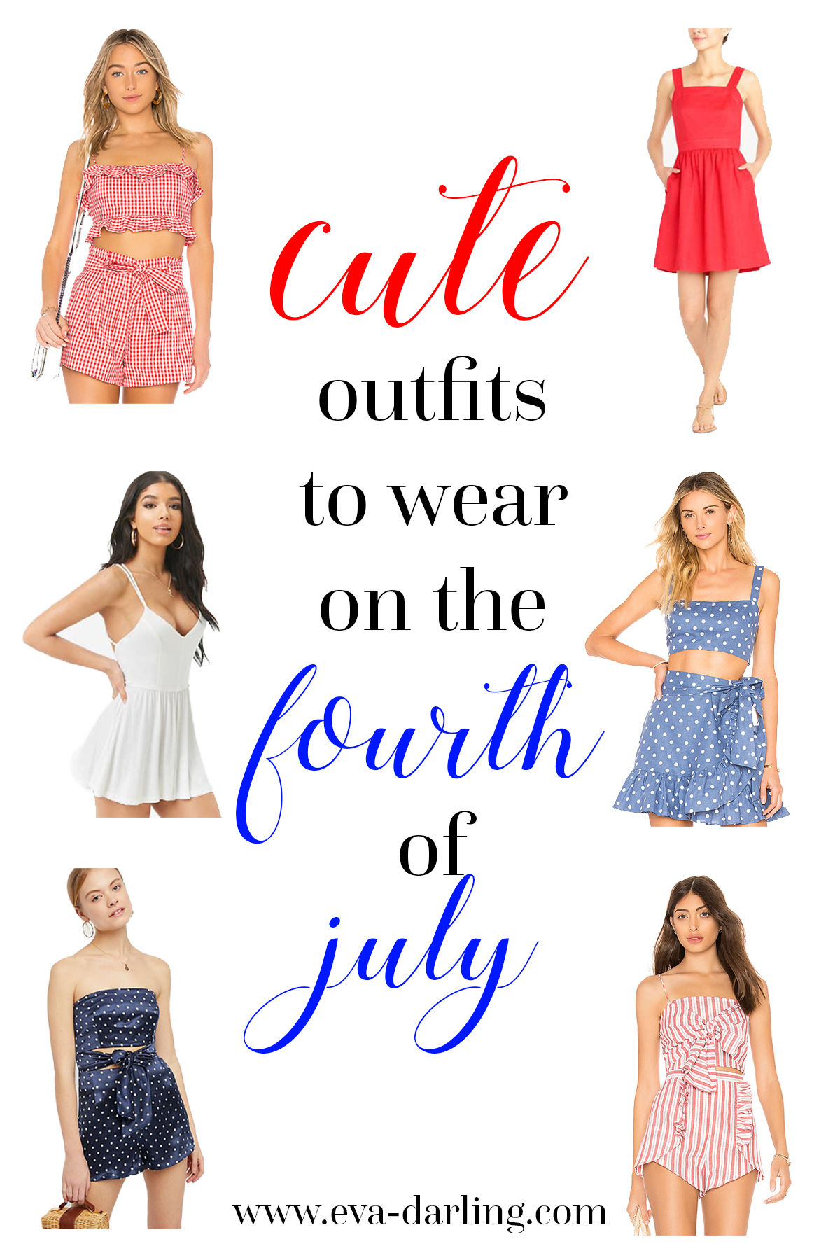 fourth of july 4th independence day revolve privacy please cute outfits to wear clothing guide for teens women patriotic festive crop top wrap skirt matching set striped gingham polka dots romper dress with pockets from j crew j. crew jcrew factory free people forever 21 red white blue
