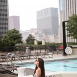 Black and White Striped Bikini + The Best View of Chicago