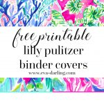 Free Printable Preppy Lilly Pulitzer Binder Covers