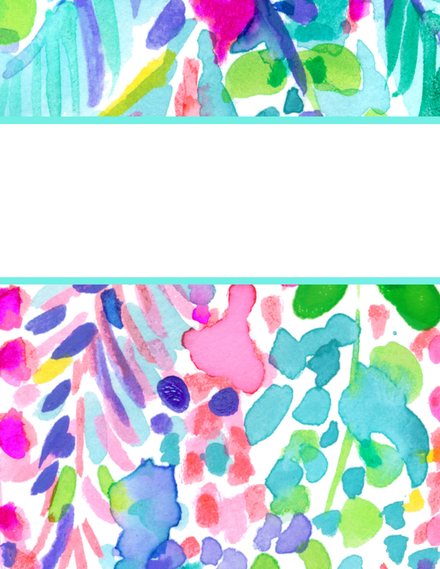 Preppy and classic style blogger Eva Phan of Eva Darling shares free printable Lilly Pulitzer binder covers for back to school cute school supplies college high school catch the wave print sea life watercolor art aquatic download organization dividers