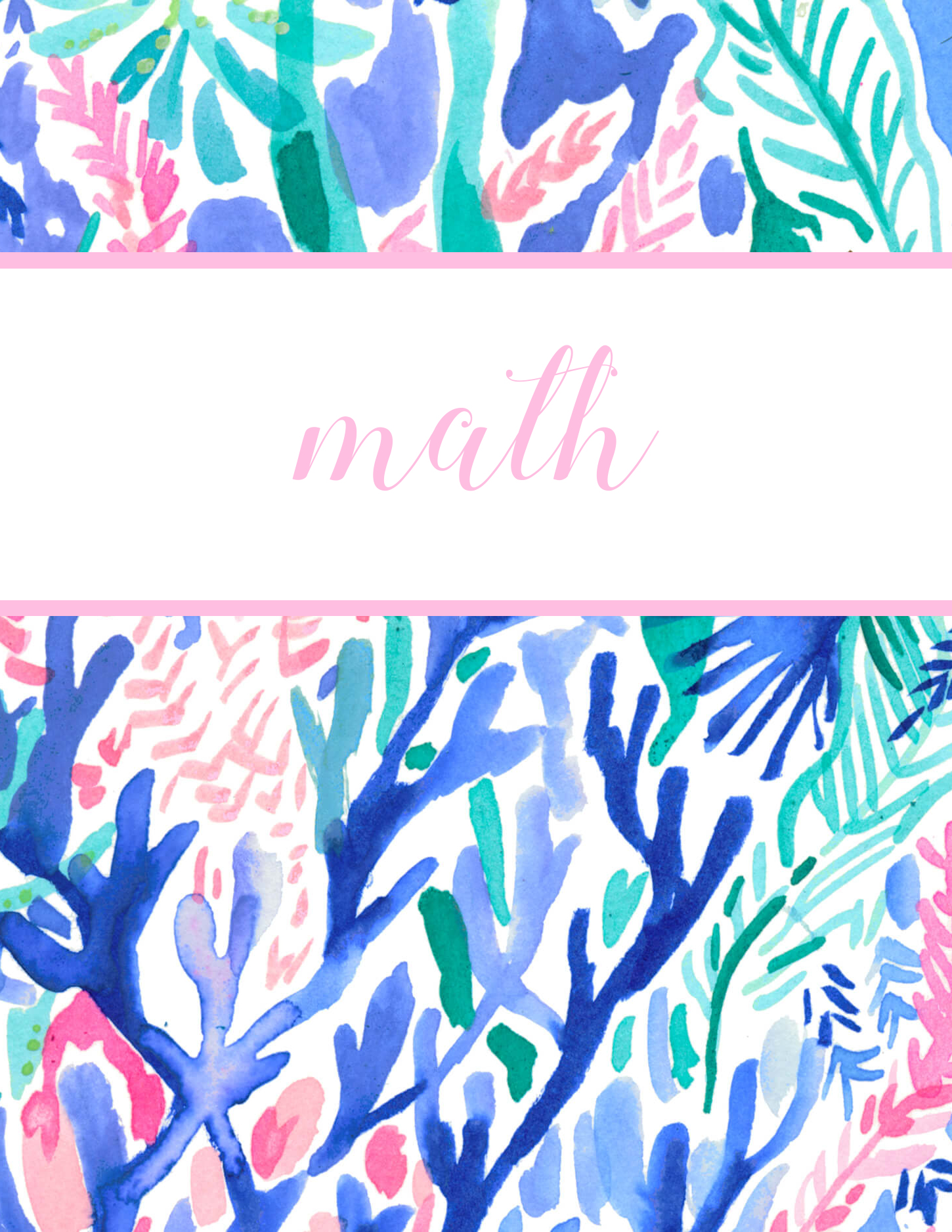Preppy style blogger Eva Phan of Eva Darling shares her free printable Lilly Pulitzer binder covers to go back to school in style in the print Catch the Wavepy and classic style blogger Eva Phan of Eva Darling shares free printable Lilly Pulitzer binder covers for back to school cute school supplies college high school jet stream print sea life watercolor art aquatic download organization dividers math subject