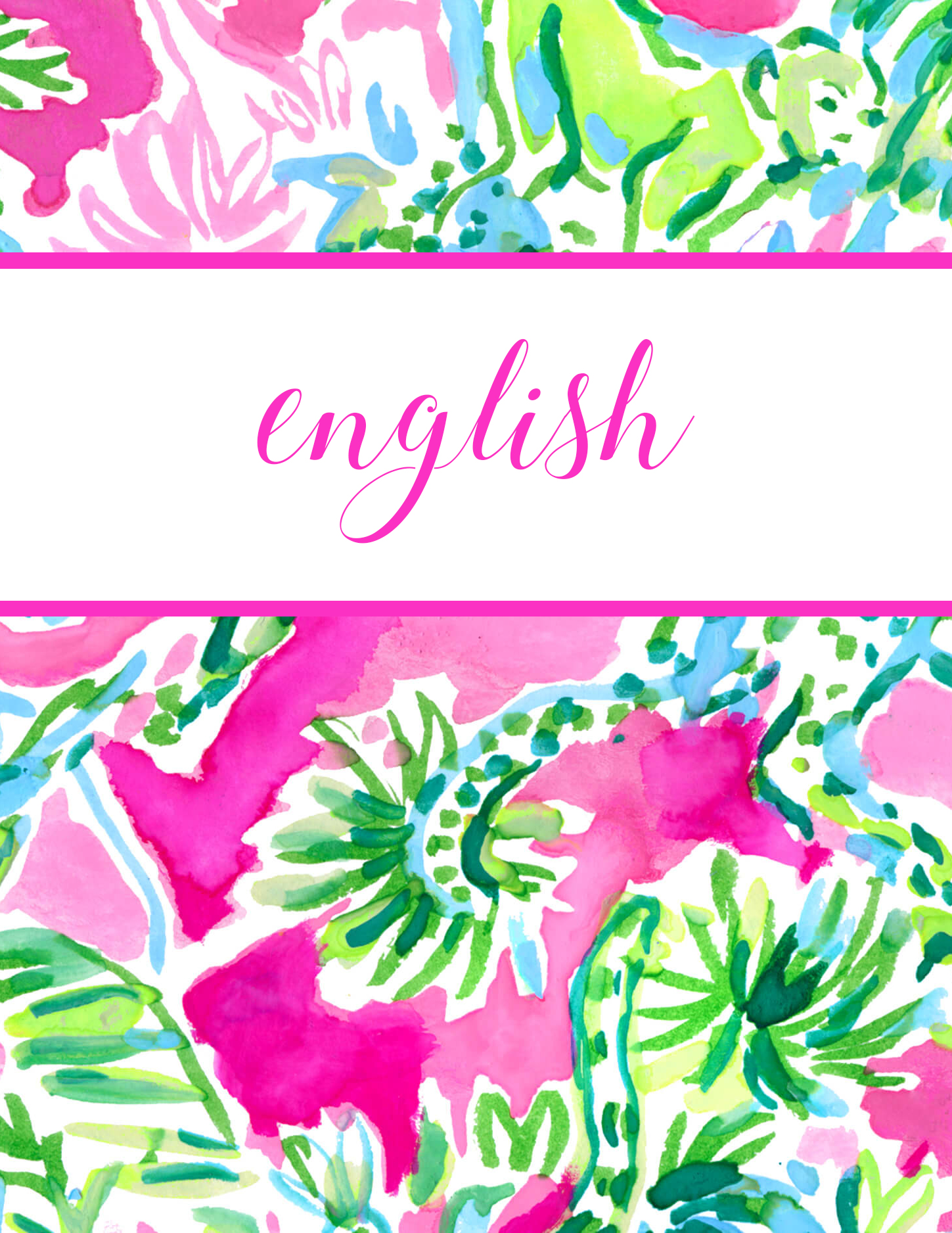 Preppy and classic style blogger Eva Phan of Eva Darling shares free printable Lilly Pulitzer binder covers for back to school cute school supplies college high school Razberry Catty Shack print download organization dividers jungle cat floral english subject