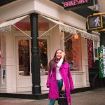 Styling a Colorful Magenta Trench Coat in SoHo