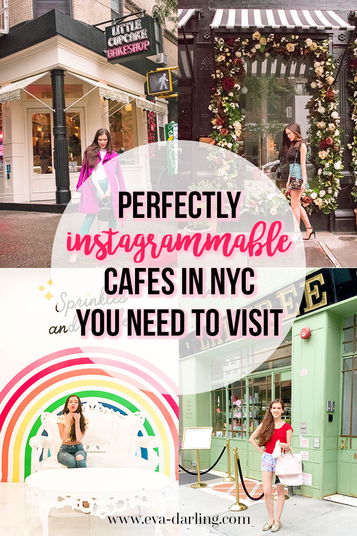 Travel blogger Eva Phan of Eva Darling shares the most perfectly instagrammable cafes in soho nyc you need to visit laduree flour shop little cupcake bakeshop sezane