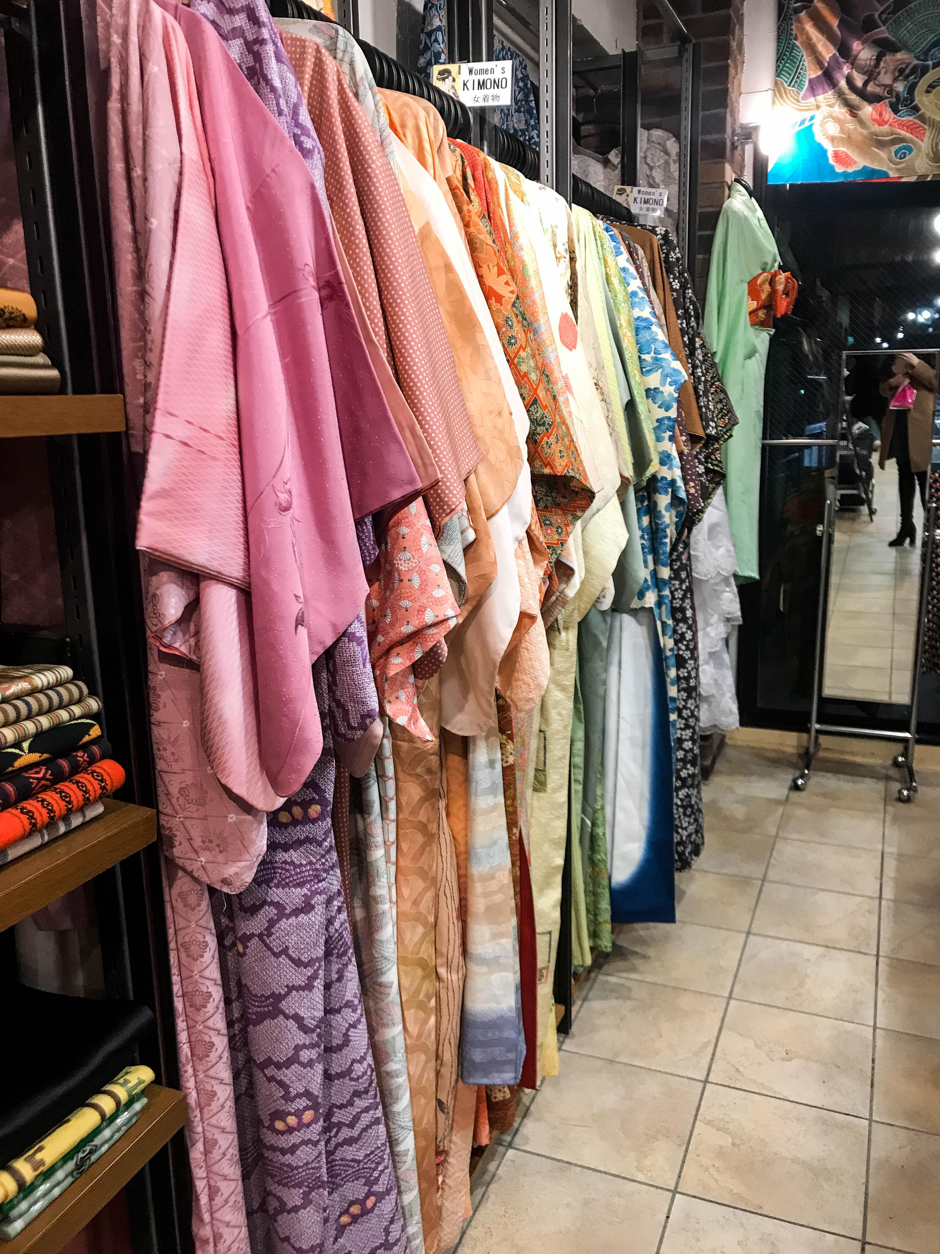 Chicago vintage store harajuku tokyo japan shibuya silk kimono