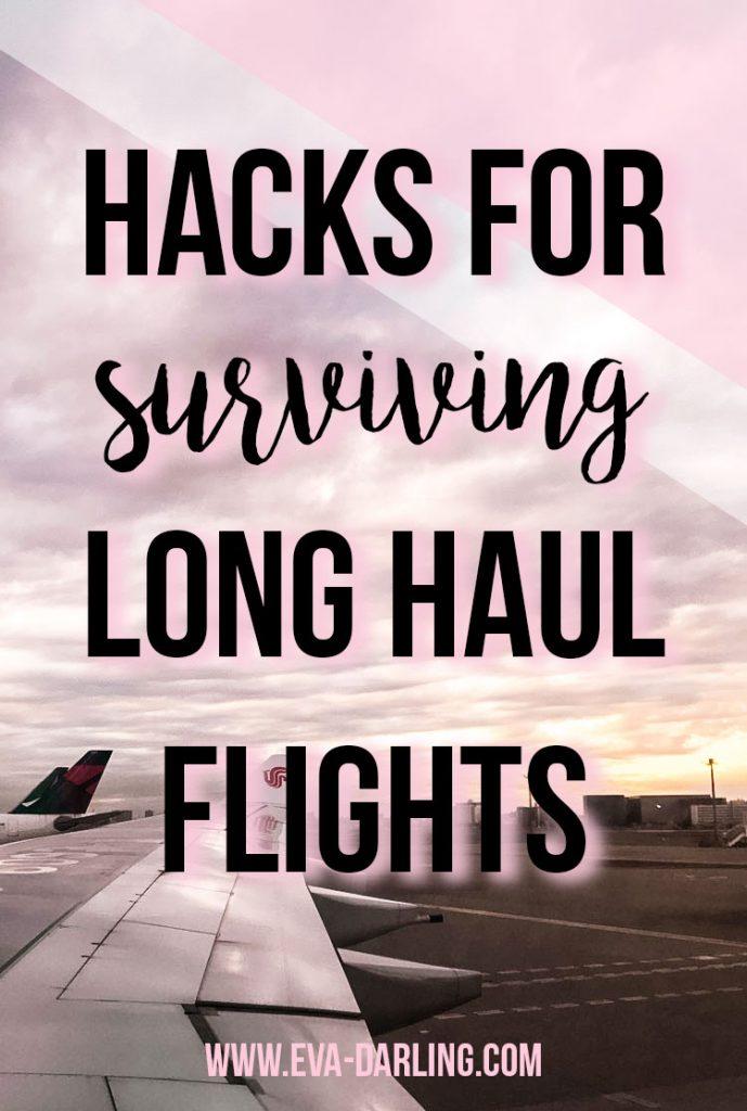 how to survive a long haul flight travel blogger eva phan on travel tips tricks hacks for flying long distance transatlantic air china flight