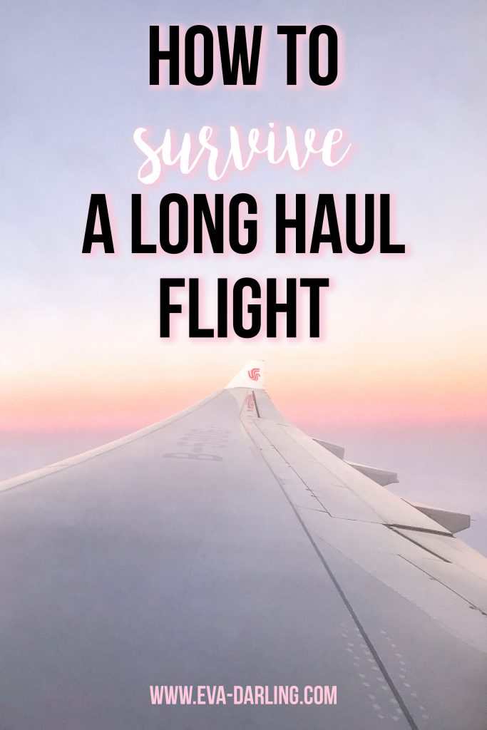 how to survive a long haul flight travel blogger eva phan on travel tips tricks hacks for flying long distance transatlantic air china sunrise on a plane