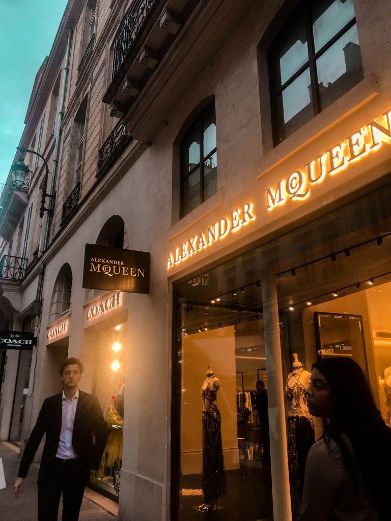 Alexander McQueen Paris Flagship Rue Saint-Honoré storefront