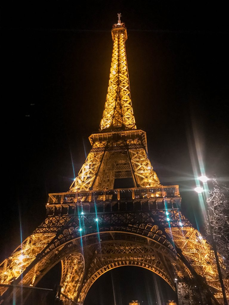 Park Champ de Mars Eiffel Tower at Night Eva Darling travel blogger