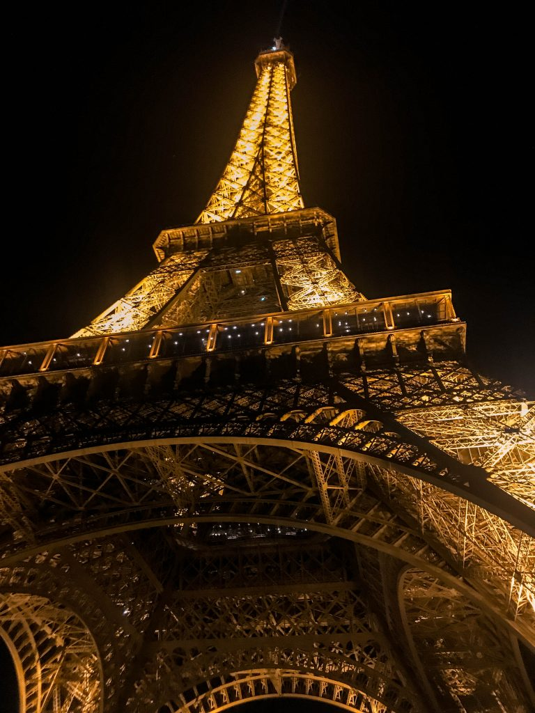 Park Champ de Mars Eiffel Tower at Night Eva Darling travel blogger in Paris France