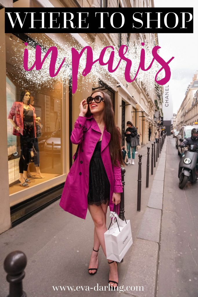 Where to Shop in Paris Rue Saint-Honoré Chanel flagship store Rue Cambon nbd Peter mini dress black lace dress from Revolve, magenta hobbs trench coat, black loveliness stilettos from Lulus in Paris France Prada Baroque Sunglasses where to go in Paris France what to do in the 1e arrondissement