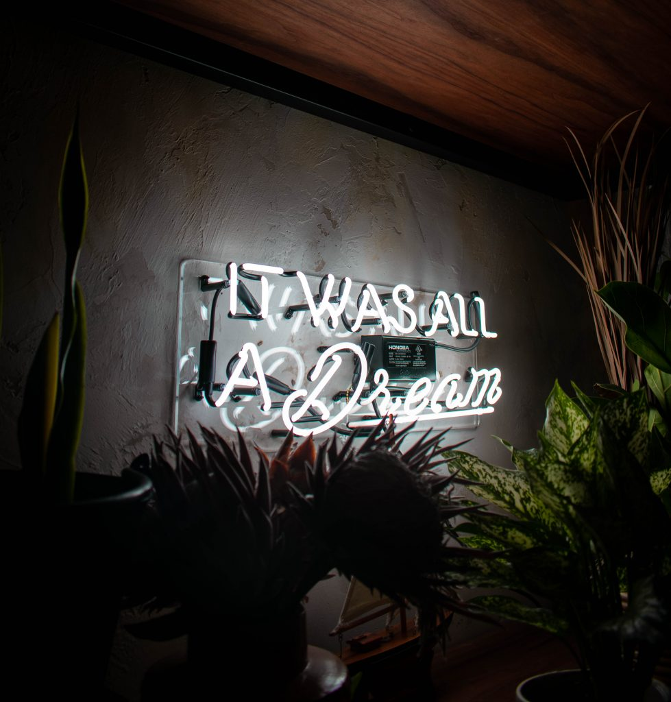 it was all a dream neon sign galley restaurant and bar lounge hilton west palm beach hotel florida instagrammable neon art sign