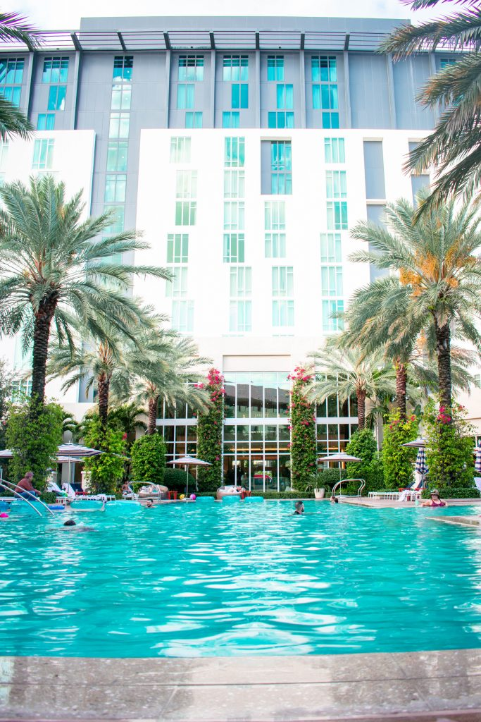 poolview of the Hilton West Palm Beach
