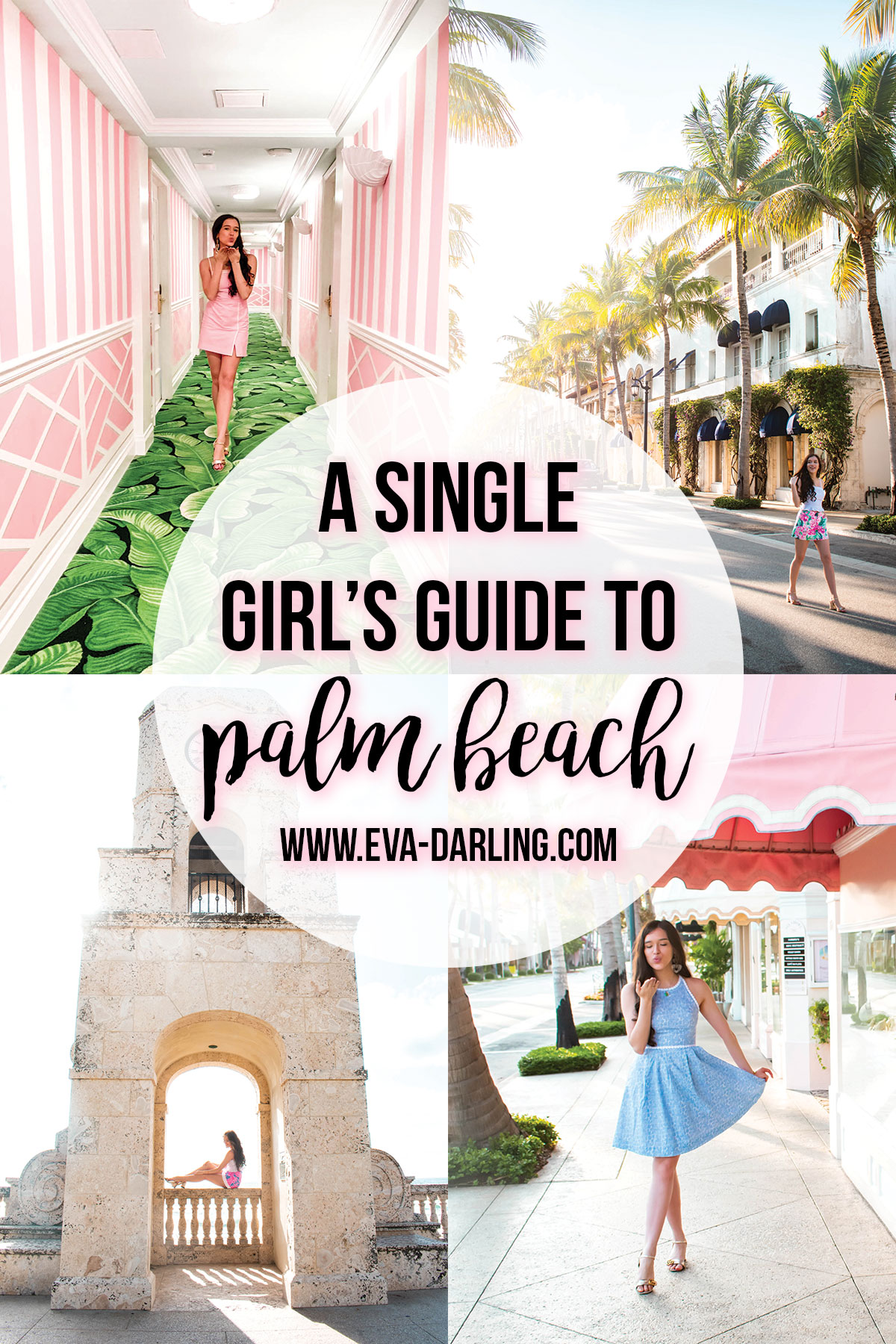 a single girl's guide to palm beach florida worth avenue colony hotel clocktowerlilly pulitzer nicki skort via flora tori dress travel blogger where to go in florida safe solo female travel destination what to do in palm best pbi island Eva Phan of Eva Darling