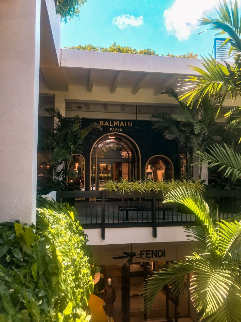 bal harbour shops miami balmain store luxury shopping mall united states miami florida outdoor mall