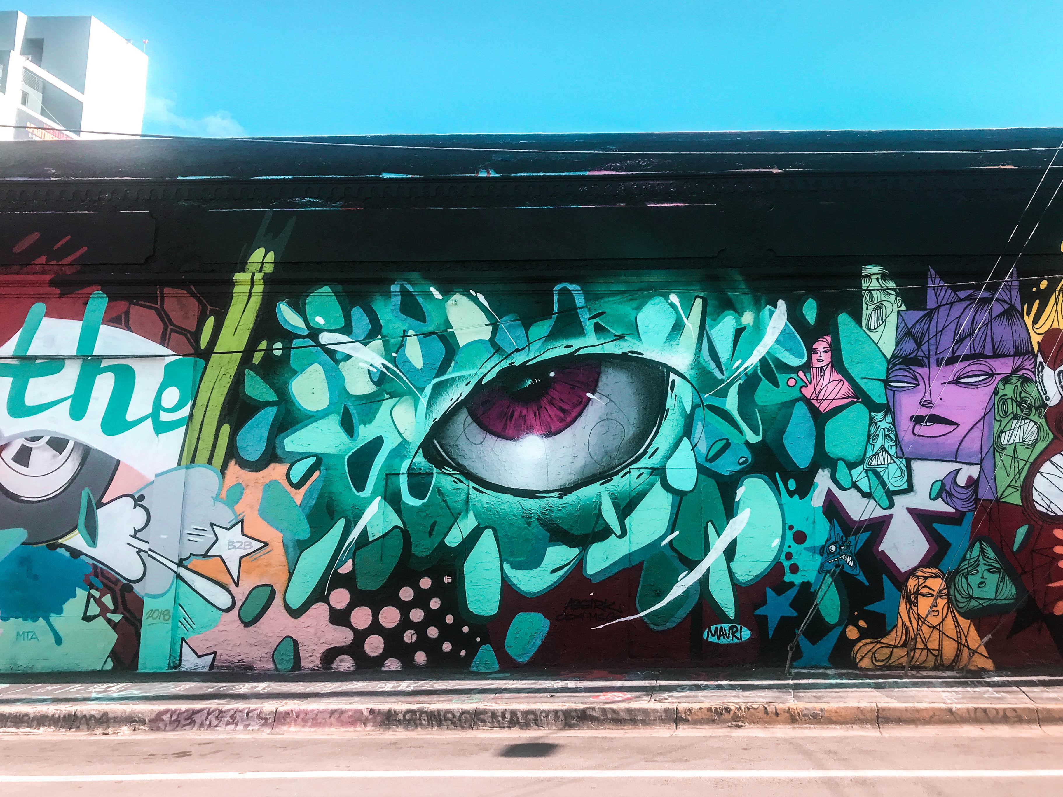 wynwood walls art district street art abstract art unique grafitti where to go in miami florida