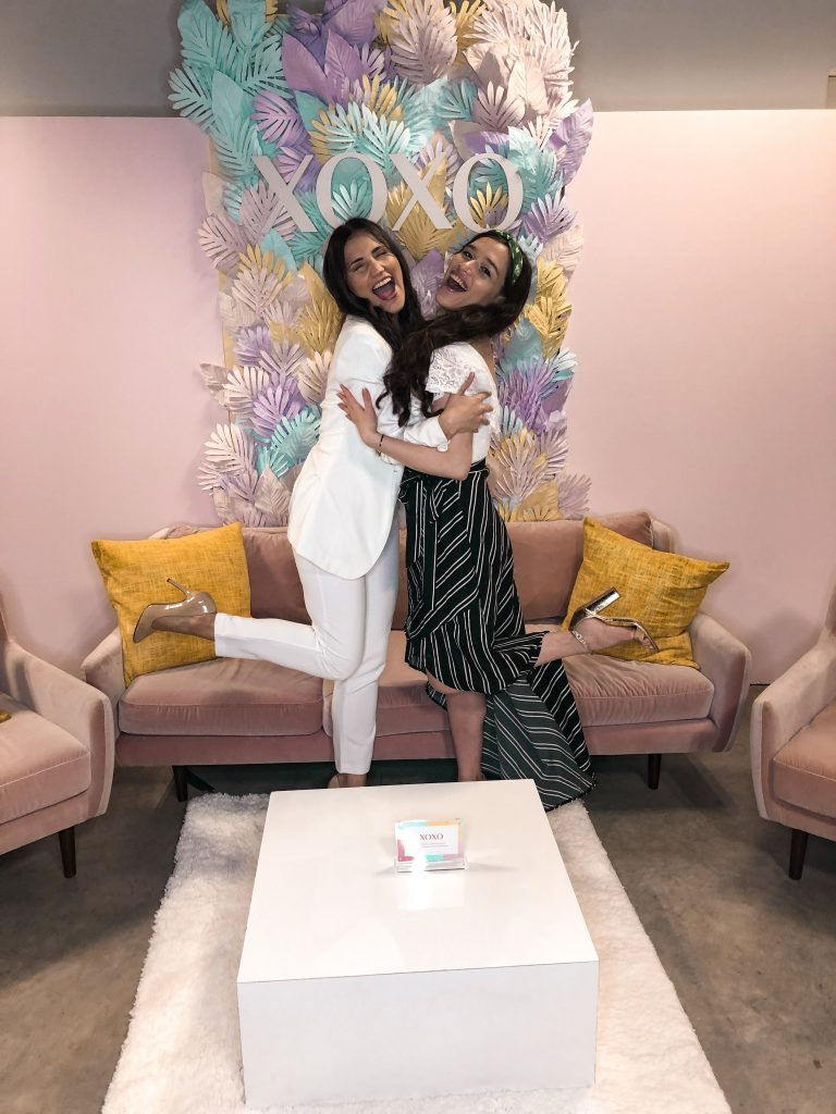 her conference nyc xoxo clothing trendy summer outfit inexpensive college girl style eva phan of eva darling with andreina valderrama women conference bklyn studios