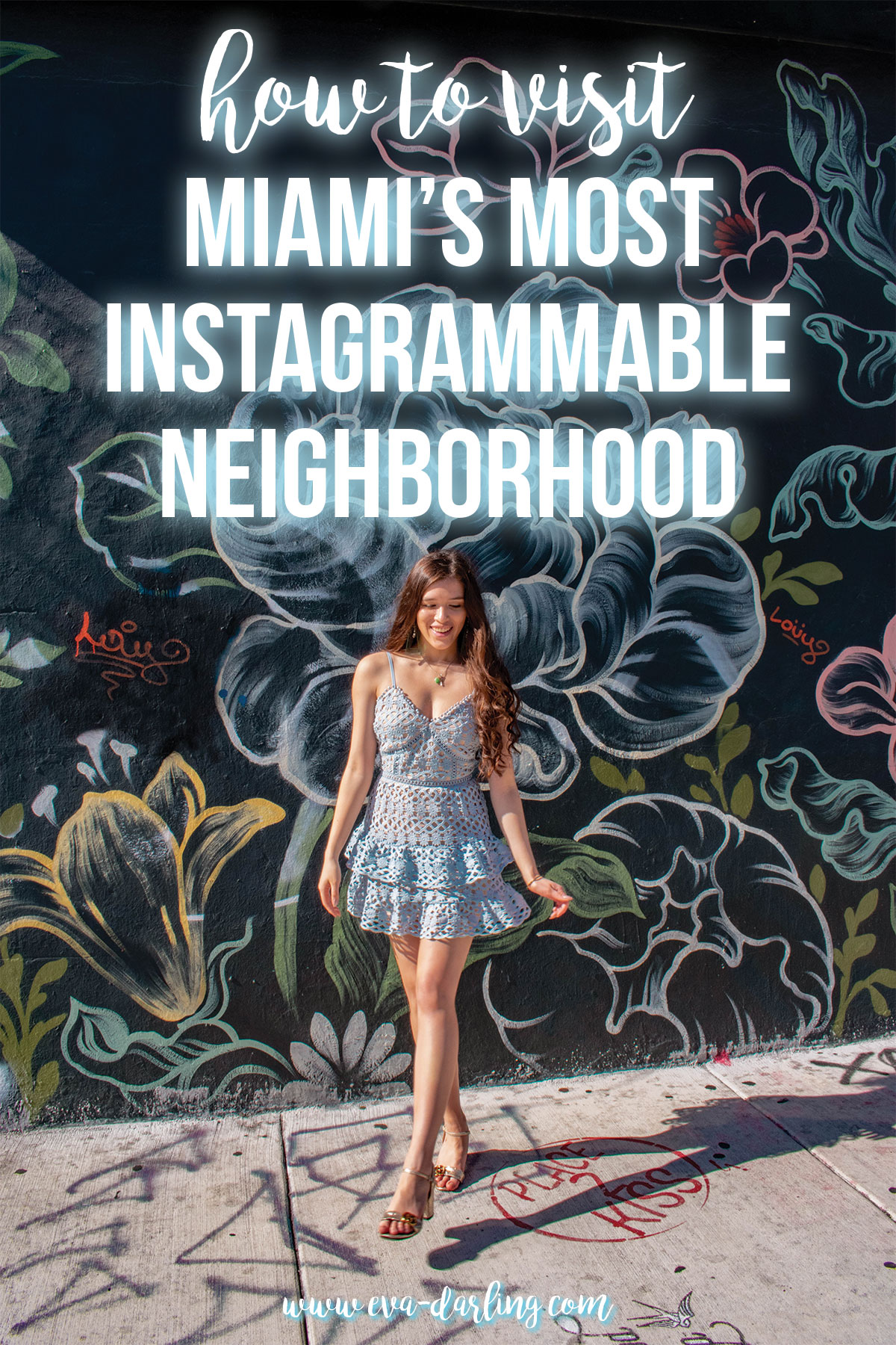 how to visit Miami's most instagrammable neighborhood where to travel unique things to do in miami wynwood art district street art beauty and lace light blue crochet dress lulu's