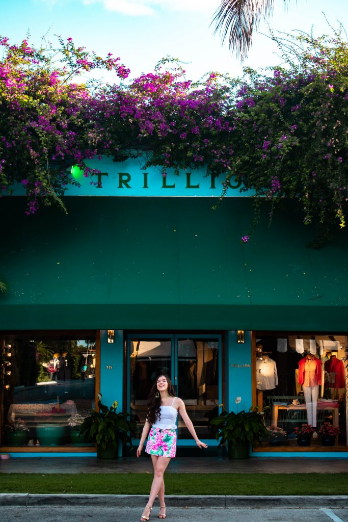 Eva Phan of Eva Darling Trillion Worth Avenue Palm Beach Island Florida Lilly Pulitzer Nicki Skort Via Flora where to go in Florida United States