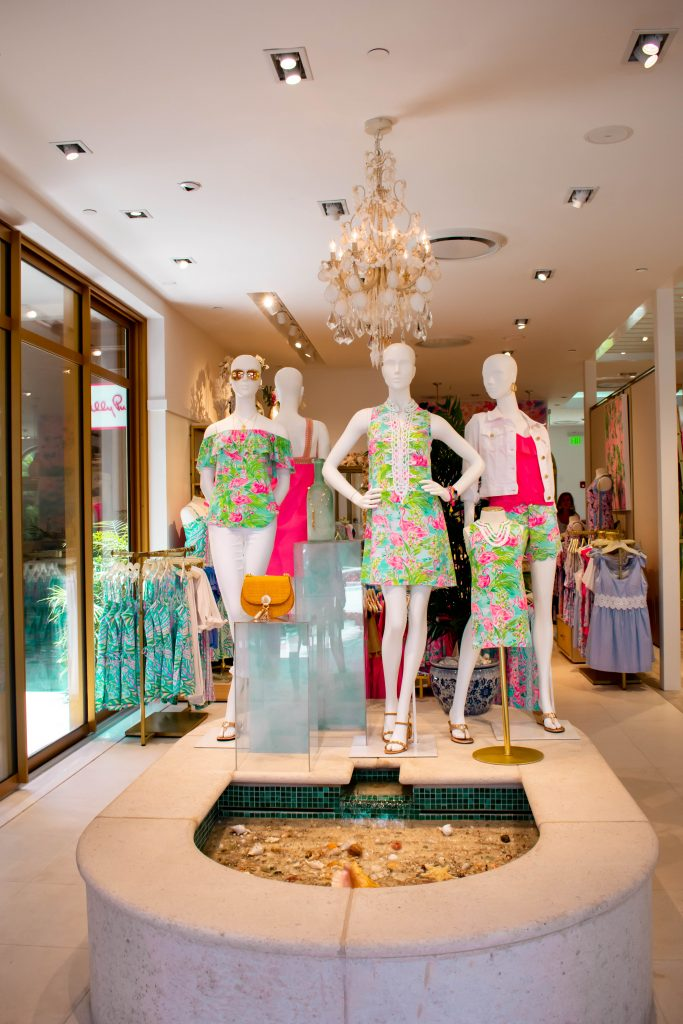 Lilly Pulitzer Worth Avenue store entrance Palm Beach Island Florida Preppy Clothing