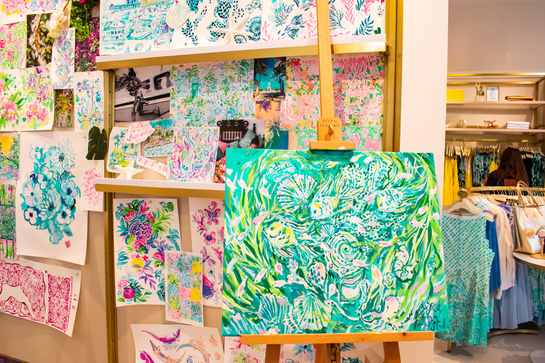 Lilly Pulitzer Worth Avenue Palm Beach Island custom print wall canvas interior design art