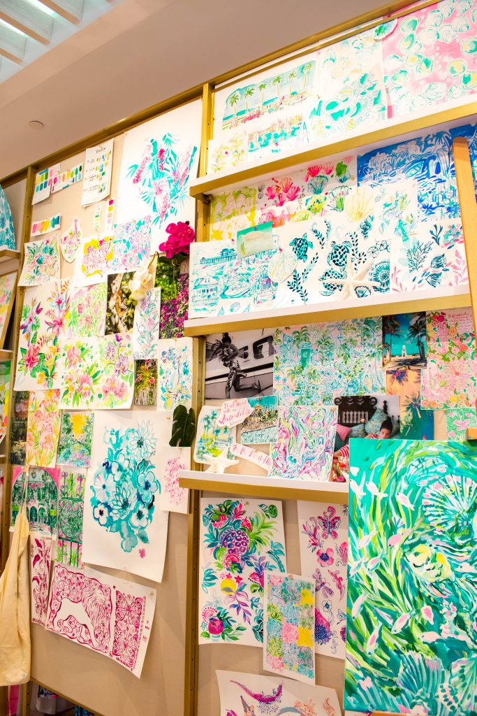 Lilly Pulitzer Worth Avenue Palm Beach Island custom print wall
