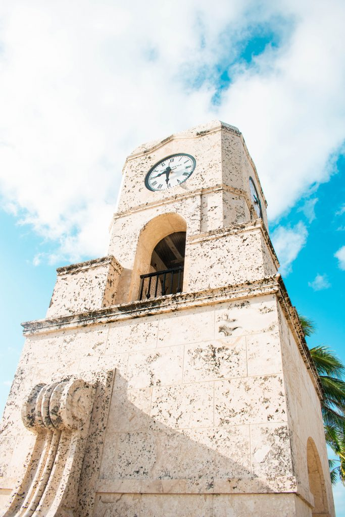 Palm Beach Island Florida Worth Avenue Clocktower