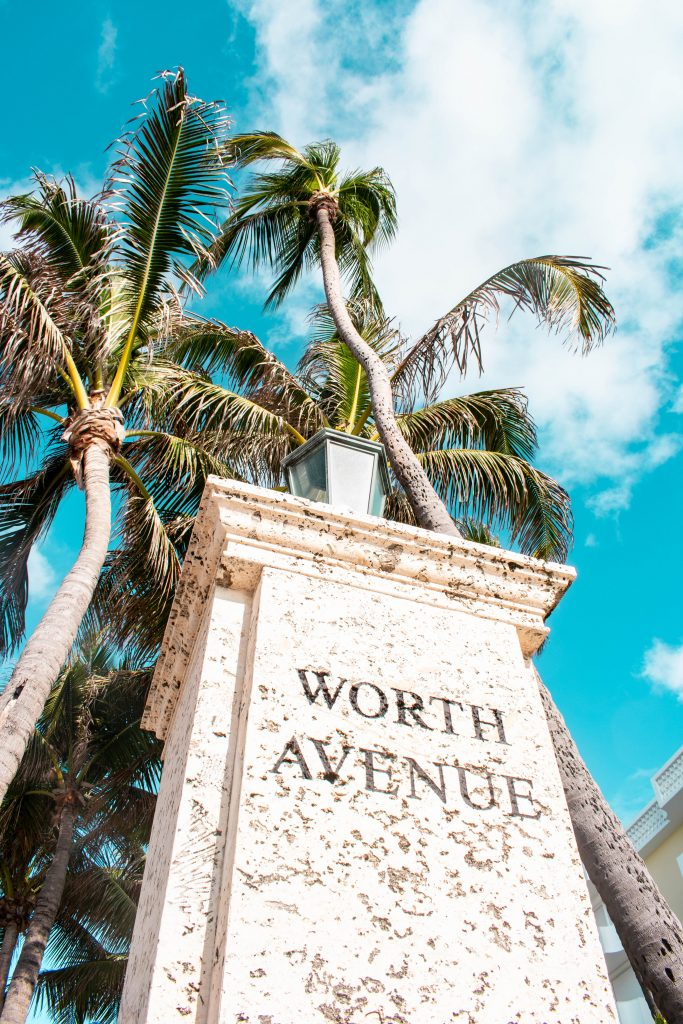 Worth Avenue Entrance Marker Palm Beach Island Florida