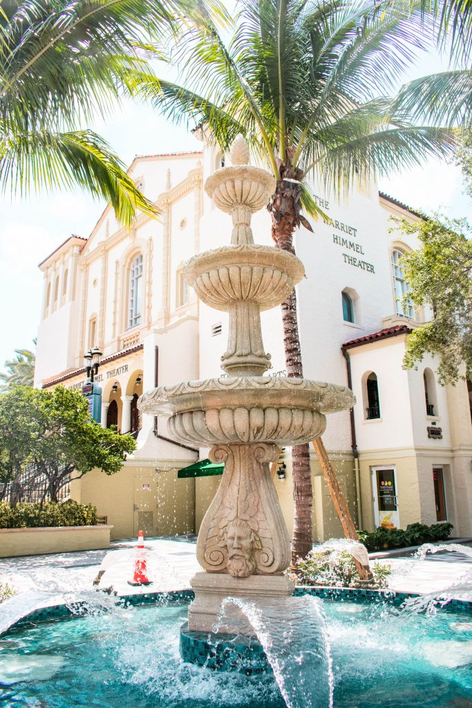 rosemary square west palm beach florida harriet himmel theater fountain