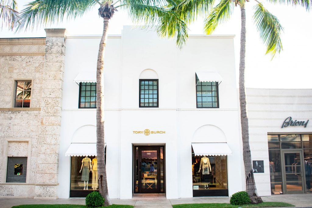 Tory Burch store Worth Avenue Palm Beach Island Florida luxury shopping designer clothing