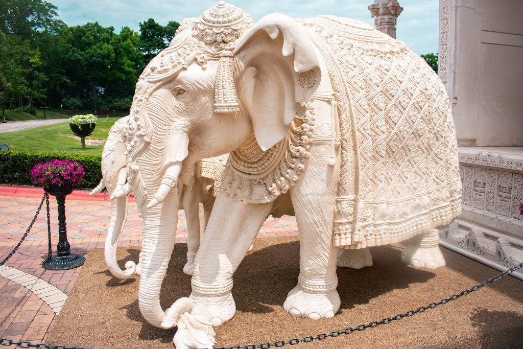 marble elephant statue ornate indian sculpture