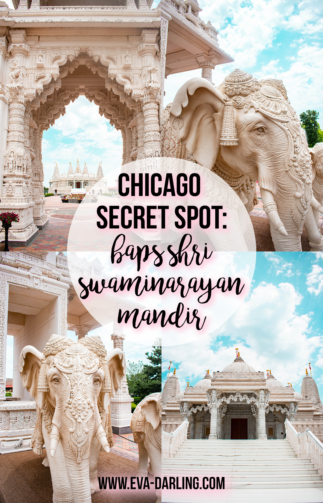 travel blogger eva phan of eva darling baps shri swaminarayan mandir hidden gem chicago illinois things to do in bartlett secret spot chicago unique things to do in chitown chi midwest travel ideas travel guide chicago indian architecture hindu hindi temple