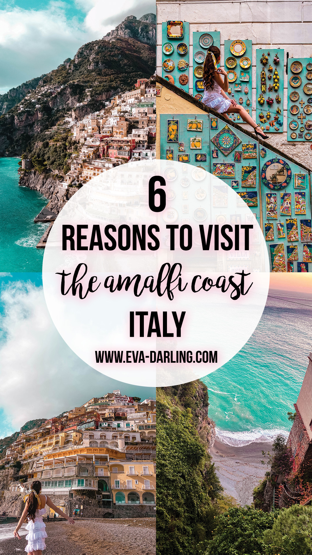 best things to do on the amalfi coast where to go in italy road trip destination europe things to do in positano amalfi coast winter off season travel blogger eva darling eva phan plate wall beach travel tips southern italy province of salerno solo female travel traveler