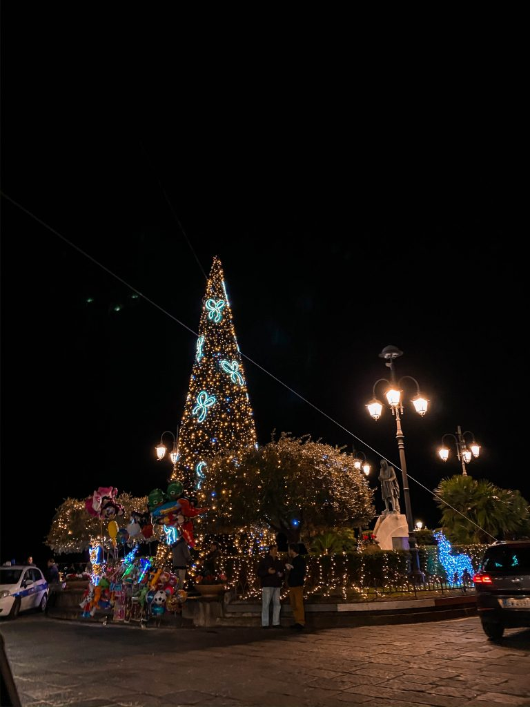amalfi province of salerno italy amalfi coast christmas festival holiday lights xmas tree off season winter
