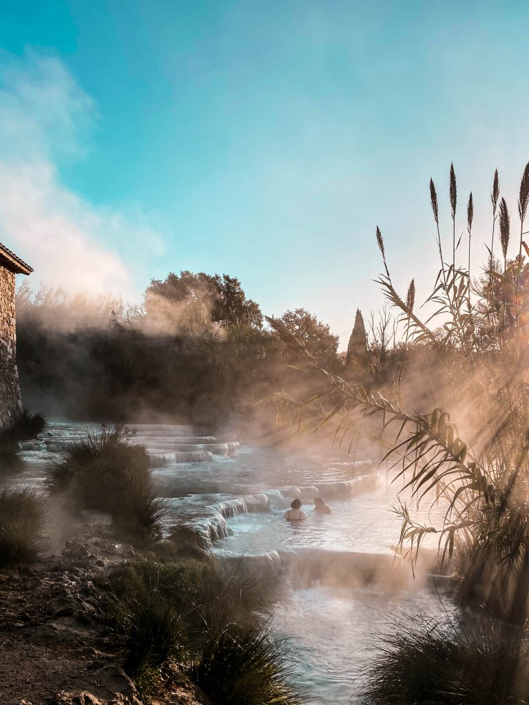 cascate del mulino maremma marciano saturnia tuscany sunrise natural hot springs thermal bath