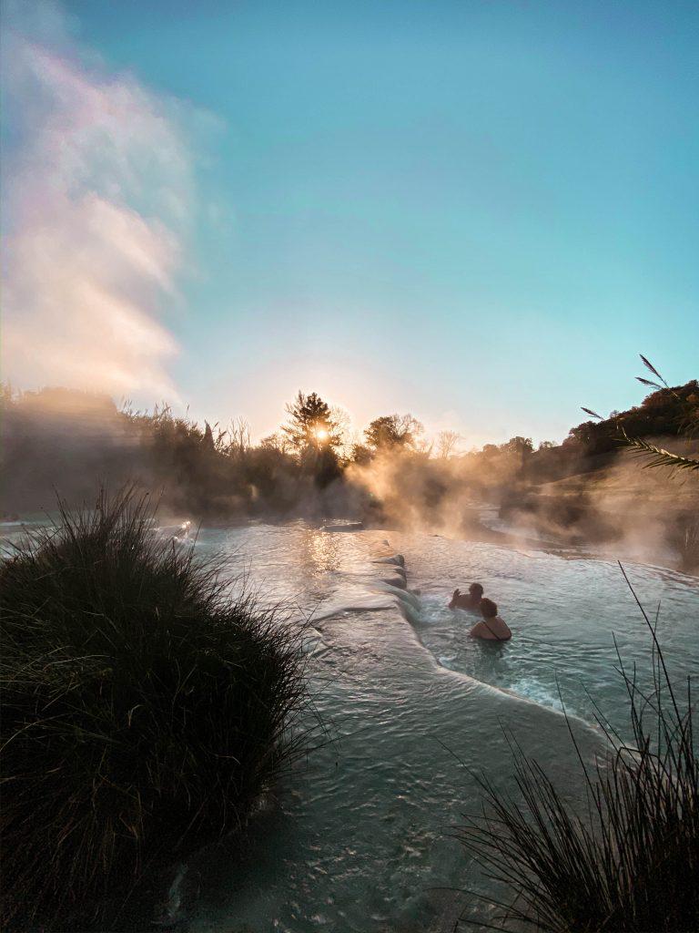 cascate del mulino maremma marciano saturnia tuscany sunrise natural hot springs