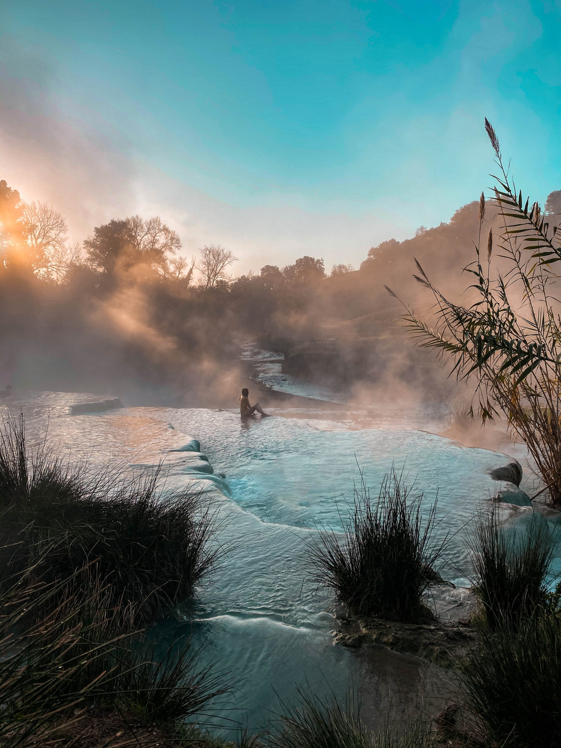 eva phan cascate del mulino terme di saturnia natural hot springs tuscany thermal bath spa italy solo female travel province of grosseto italy where to go tuscany