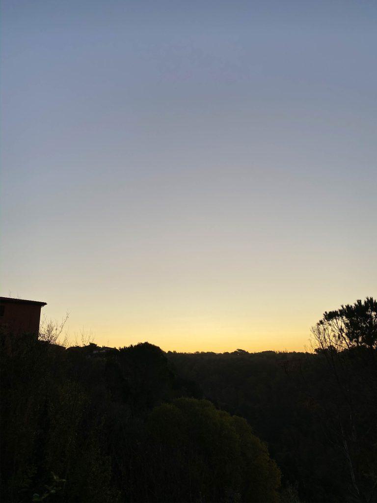 pitigliano tuscany province of grosseto sunrise