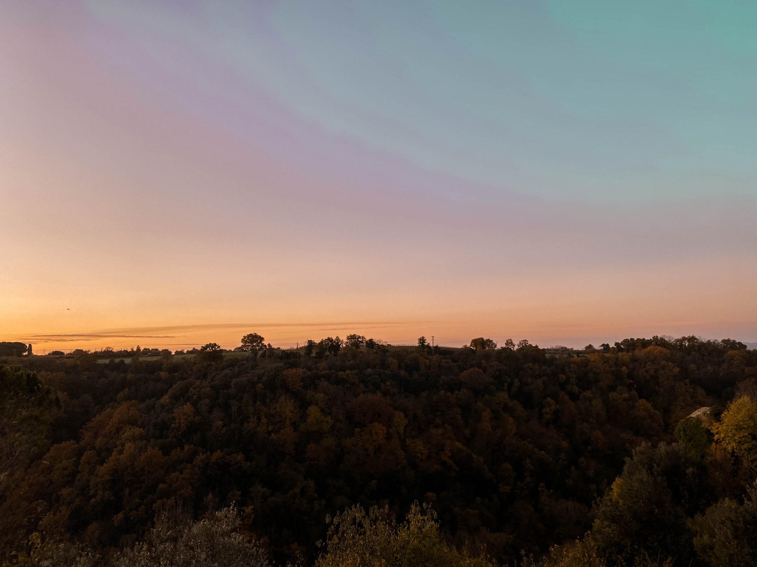 pitigliano tuscany province of grosseto sunrise landscape