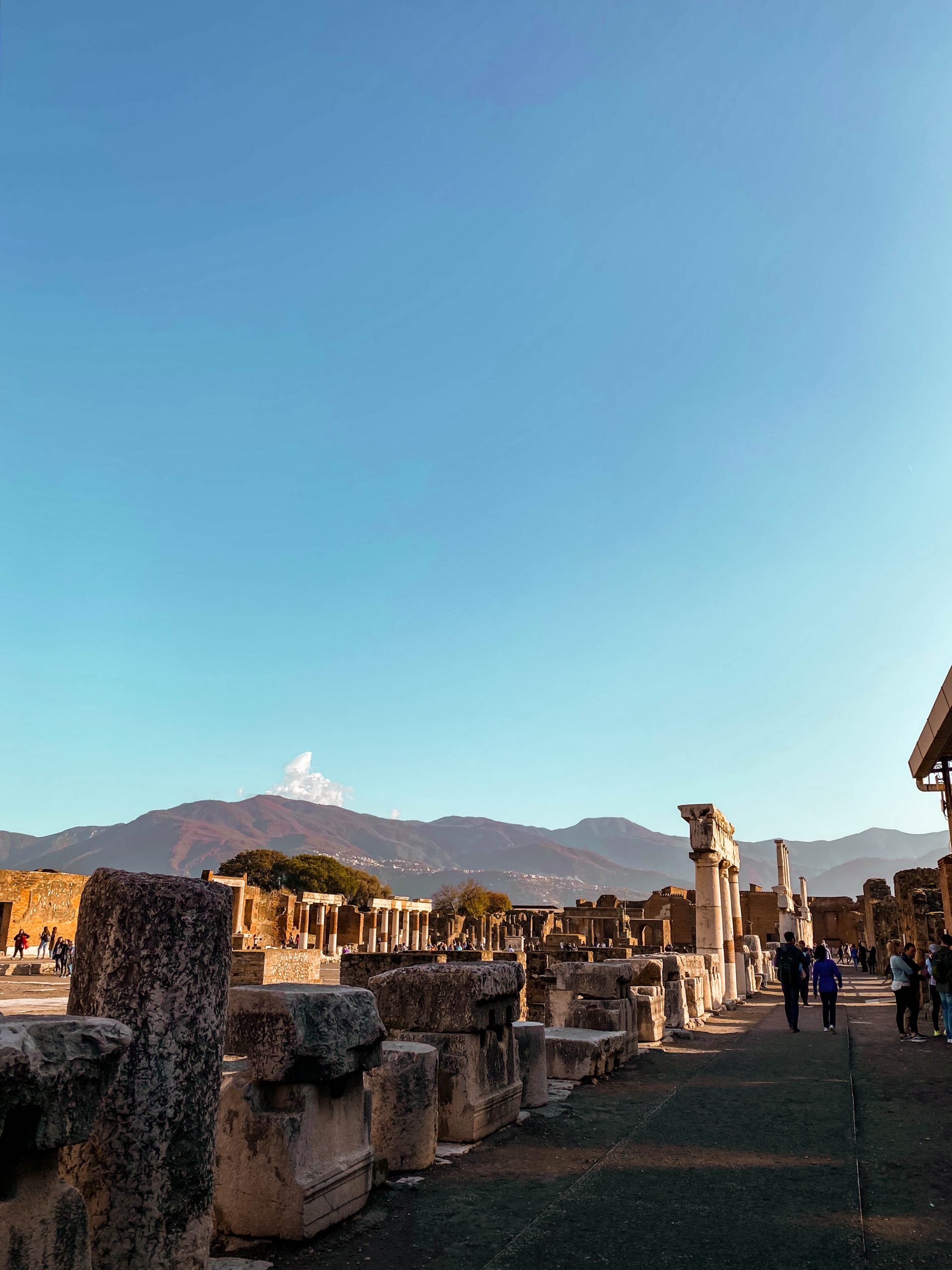civil forum pompeii foro civile ruins ancient neoclassicism architecture