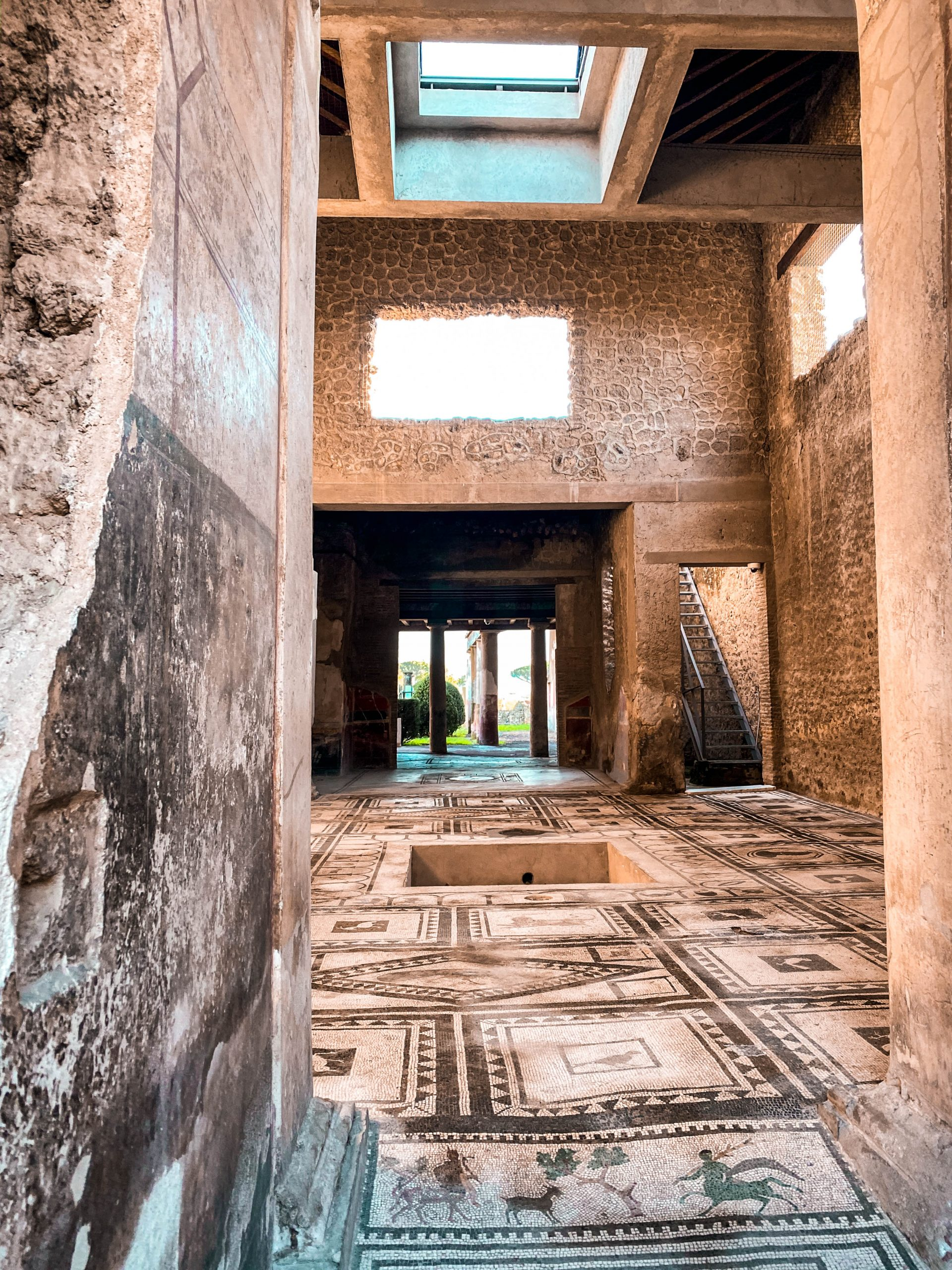 house of the cryptoporticus casa del criptoportico italian mosaic art ancient ruins pompeii italy