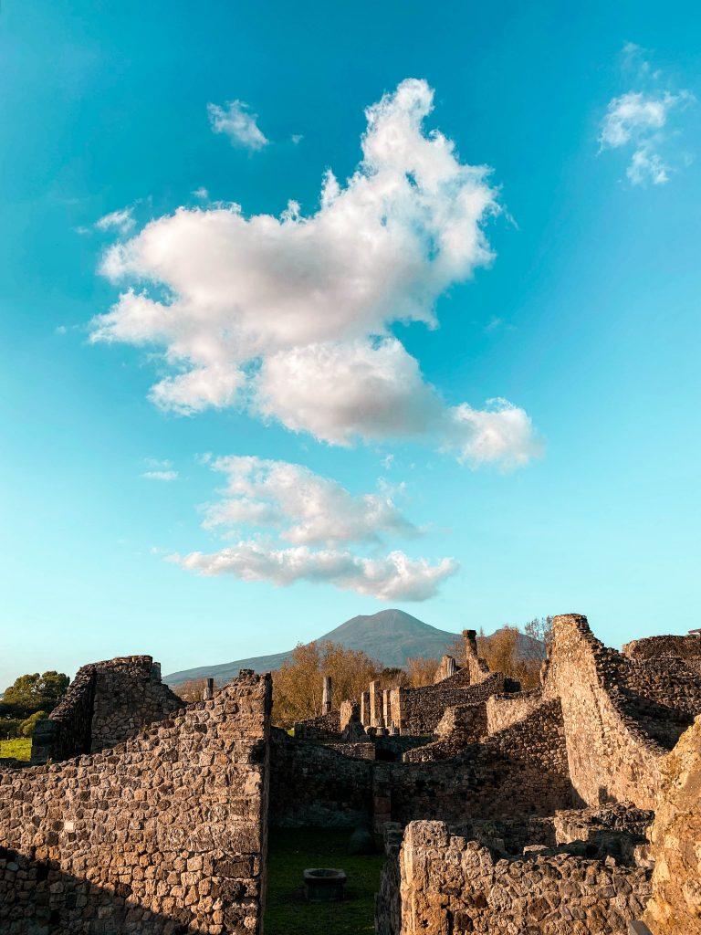 Mount Vesuvius views Pompeii Ruins park italy