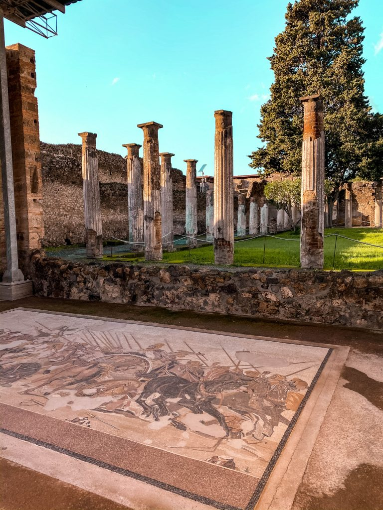 casa del fauno italian mosaic art pompeii ruins ancient church italy unesco mount vesuvius neoclassicism architecture view of naples