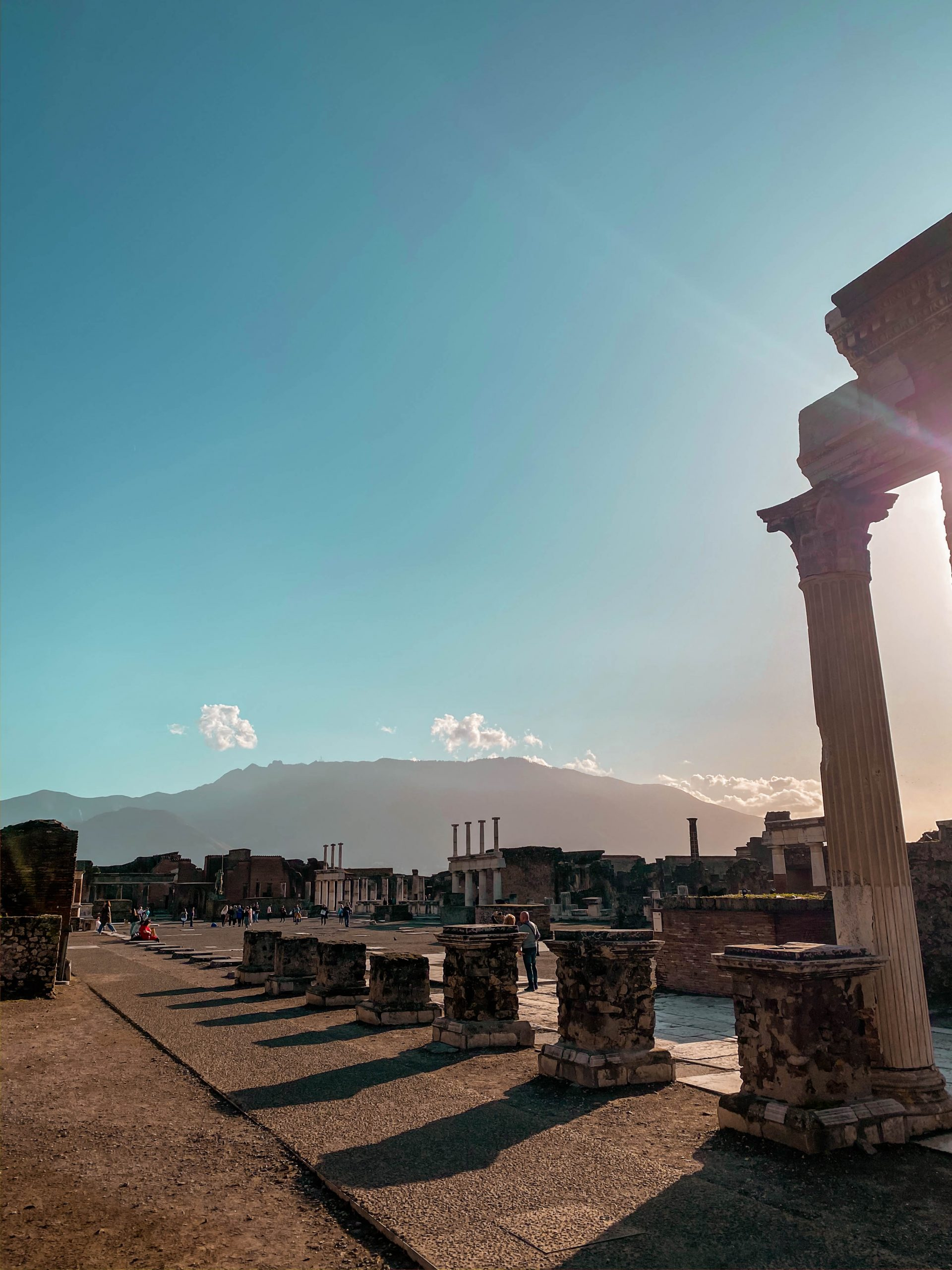 civil forum pompeii foro civile ruins ancient neoclassicism architecture columns town square
