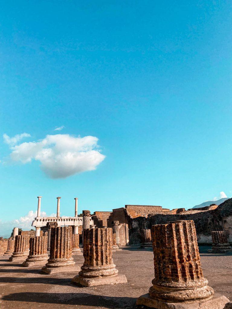 foro civile civile forum architecture roman columns pompeii naples italy unesco